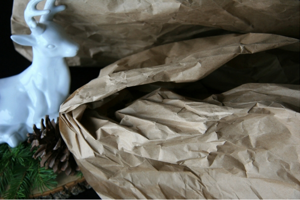 Using Packaging Paper as Christmas Wrapping Paper