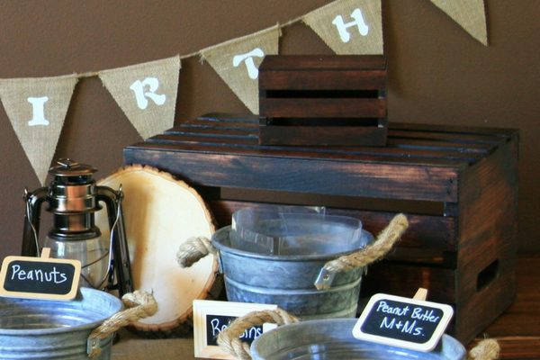 DIY Wood Cupcake Stand for Outdoor Adventure Birthday Party at LeavenworthAdventures.com