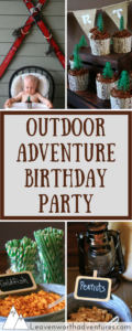 Boy's First Birthday Party, Outdoor Adventure Theme - Leavenworthadventures.com