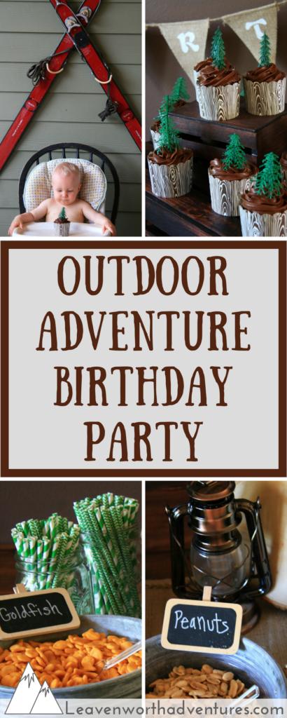 Boy's First Birthday Party, Outdoor Adventure Theme - Leavenworthadventures.com