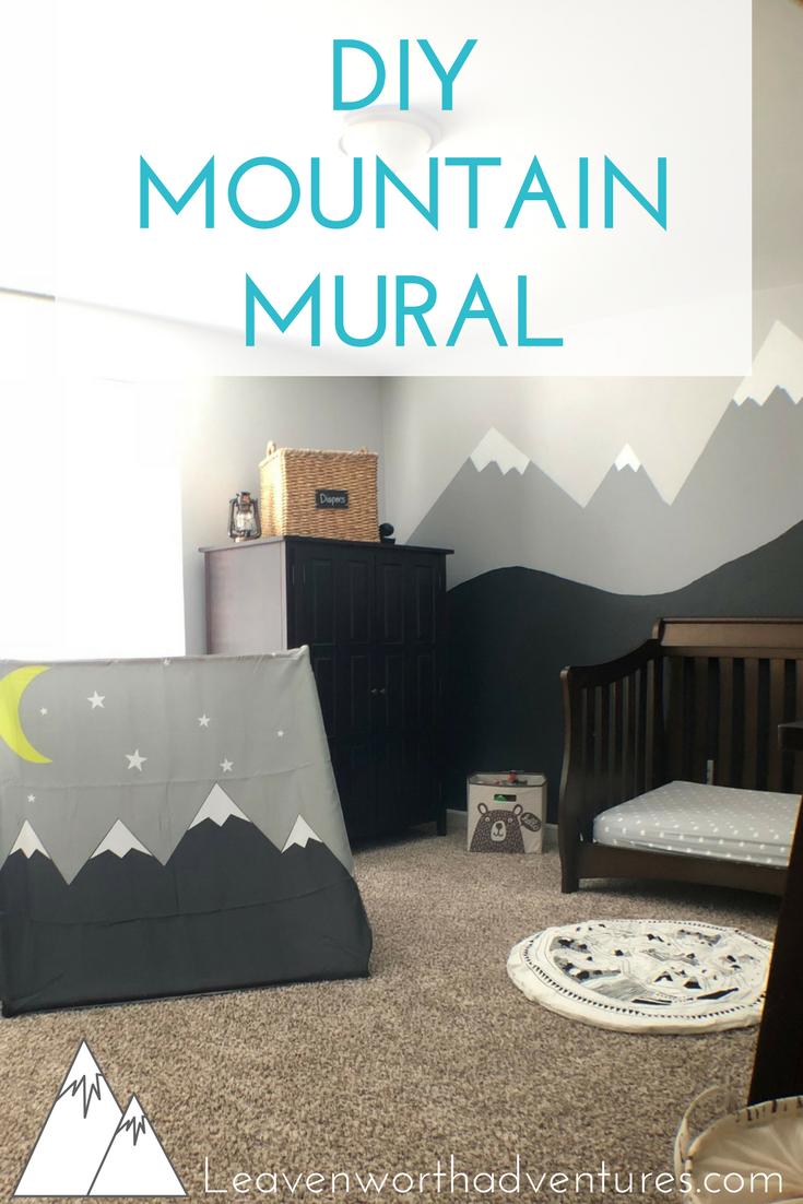 Boy's Outdoor Adventure Nursery, Part 2: DIY Mountain Mural. - Leavenworthadventures.com